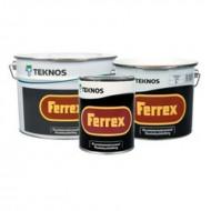 Teknos Ferrex - Антикоррозионная краска для металла на масляно-алкидной основе, 1-3 лиитра, Финляндия