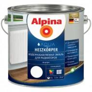Alpina Aqua для радиаторов - Эмаль жаростойкая, акриловая для радиаторов и батарей, 0.75-2.5 л,Германия