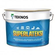 Teknos Superlateksi B.1 - Акрилатная краска для минеральных, металлических и деревянных поверхностей, матовая, белая, 0.9-9 литров, Финляндия