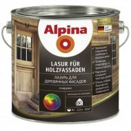 Alpina Лазурь для деревянных фасадов - Грунтовка и финишное покрытие для деревянных фасадов, различные цвета, 0.75-10л, Германия