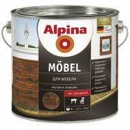 Alpina Moebel - Алкидный лак для мебели (Глянцевый, шелковисто-матовый), 0.75-2.5л, Германия