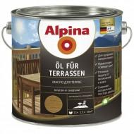 Alpina Oel fuer Terrassen - Масло для деревянных полов, 0.75-2.5л, Германия