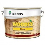 Teknos Woodex Base - Грунтовочный антисептик от гниения, синевы и плесени для дерева, на алкидной основе, 1-10 литров, Финляндия