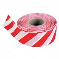 Лента сигнальная бело-красная 8см * 100-200 метров,Польша