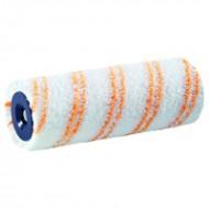 Storch Grosflachenwalze Kern 25см - Микроволокнистый валик, Ø 47мм, мех 9-15 мм в ассортименте, оранжевые полосы, Германия