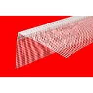 Угловой профиль ПВХ с армирующей сеткой 10х15 см, длинна 2.5м