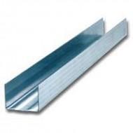 Профиль для гипсокартона UD (ПН), 27*28*3000мм, металл 0.4, 0.5, 0.6мм в ассортименте, Ю-мет, РФ