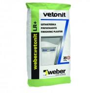 Weber Vetonit LR - Полимерная белая финишная шпатлевка для внутренних работ,5-20кг, Россия