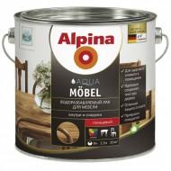 Alpina Aqua Moebel - Лак для мебели на водной основе (Глянцевый, шелковисто-матовый),0.75-2.5л, Германия