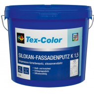 Tex-Color Siloxan Kratzputz - силоксановая высококачественная штукатурка размер зерна 1.5, 2 и 3мм., для внешних и внутренних работ, камешковая, 25кг