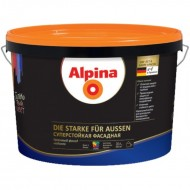 Alpina Суперстойкая фасадная B.1 - Устойчивая к загрязнениям, высококачественная фасадная краска, белая, 10л, Германия