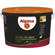 Alpina Благородная интерьерная B. 3 - Краска экстра-класса, шелковисто-матовая, прозрачная, 9,4л, Германия