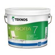 Teknos Biora 7 - Интерьерная акрилатная краска для стен, матовая, 0.9-9 л, Финляндия