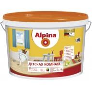 Alpina Детская комната B.1 - Износостойкая, шелковисто-матовая краска для детских комнат, 5л белая,