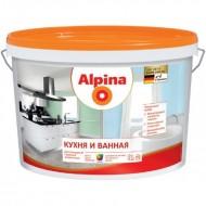 Alpina Кухня и Ванная B.1 - Стойкая к влажности и загрязнениям интерьерная краска, белая, 5 л